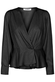 Justin Wrap Blouse | Black | Bluse fra Co'couture