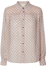 Molly Shirt | Dusty Rose | Skjorte med print fra Lollys Laundry