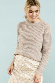 Knit Pullover | Cement | Strik fra Saint Tropez