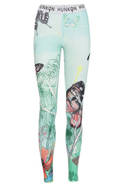 Butterfly Yoga Leggings | Art print | Leggings fra Hunkön