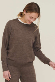 Vera Sweater | Brown mel | Bluse fra Basic Apparel