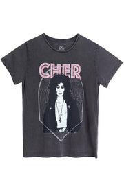Diamond Cher Paloma | Faded Black | T-shirt med tryk fra 360 ICON