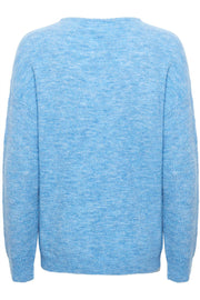 Knit V-Neck LS | Silver lake blue | Strik pullover fra Saint Tropez