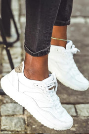 Sophie Leather | Bright White | Sneakers fra Woden