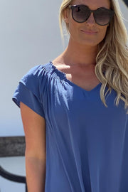 Sunrise Top | Sky Blue | Bluse fra Co'couture