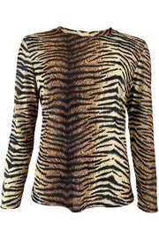 Annie Mesh Blouse | Tiger | Bluse fra Black Colour