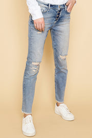 Sunn Destroyed Jeans | Blue Denim | Jeans fra Mos Mosh