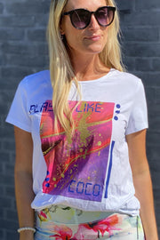 Reflection tee t-shirt | Hvid | t-shirt fra Co'Couture