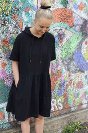 Melissa SS Dress | Black | Sweat kjole fra Liberté