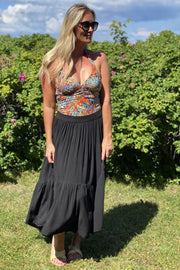 Heidi skirt | Sort | Maxi nederdel fra Black Colour