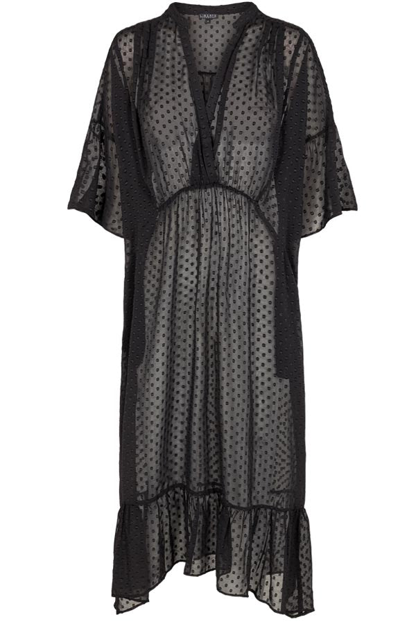 Karoline Dress | Dot / Black | Oversize kjole fra Liberté Essentiel