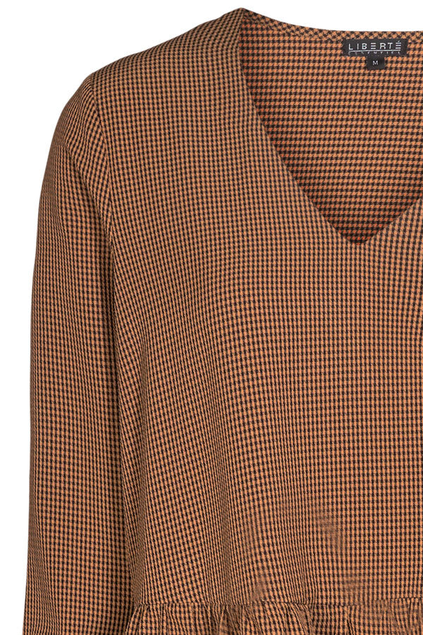 Siv Dress | Brown Check | Kjole med tern fra Liberté