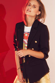 AUDREY BLAZER | Sort | Blazer fra CO'COUTURE