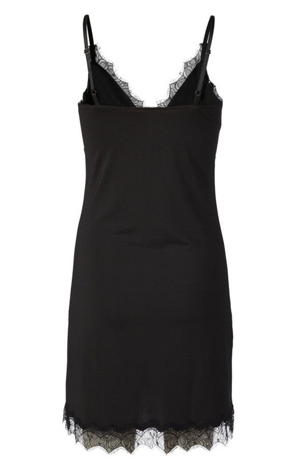 Rosemunde - Underkjole - Strap Dress (Black)