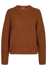 Elley Knit | Cognac | Strik sweater fra Co'Couture