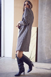 Scot Check Dress | Navy | Kjole fra Co'Couture