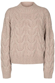 Jennesse Cable Knit | Bone | Strik fra Co'Couture