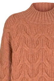 Jennesse Cable Knit | Cantaloupe | Strik fra Co'Couture