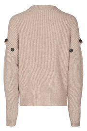 Rowie Button Knit | Bone | Strik fra Co'Couture