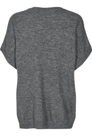 Soul O-Neck Top | Light Grey | Top fra Co'Couture