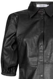 Phoebe Leather Shirt Dress | Læderkjole fra Co'couture
