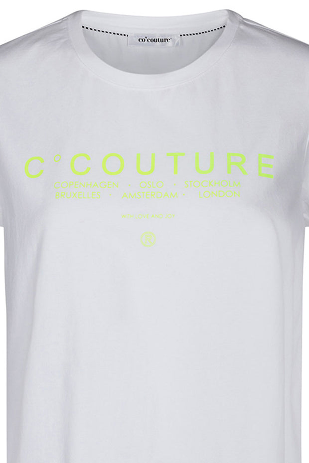City Neon Tee | Neon Yellow | T-shirt fra CO'COUTURE