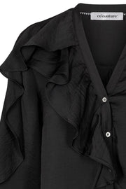Floyd Frill Shirt | Black | L/S Shirts fra Co'couture