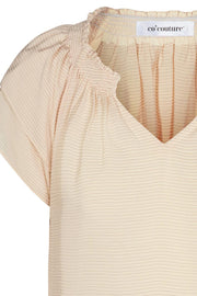 Sunrise Pauline Top | Bone | Top fra Co'couture