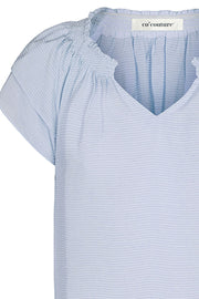 Sunrise Pauline Top | Pale Blue | Skjorte fra Co'couture