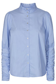 Sandy poplin puff shirt | Pale Blue | Skjorte fra Co'couture