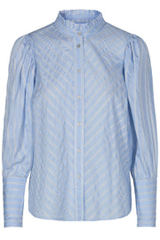 Dina stripe shirt | Light blue | Skjorte fra Co'couture