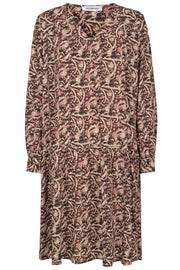 Vasco Boho Dress | Sort | Kjole med print fra Co'Couture