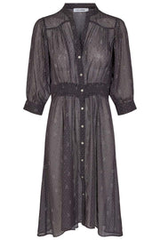 Paisley Night Shirt Dress | Black | Kjole fra Co'couture