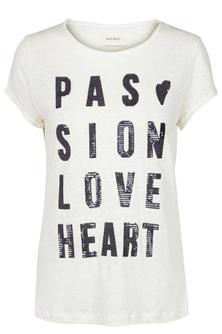 Crave Tee (offwhite) - T-Shirt fra Mos Mosh