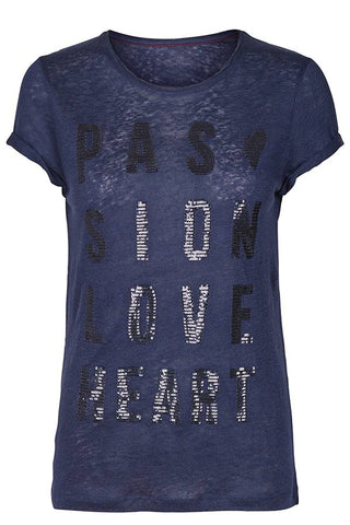Crave Tee (Navy) - T-shirt fra Mos Mosh