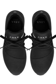 Raven mesh S-E15 | All Black White | Sneakers fra Arkk