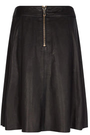 Adalyn Leather Skirt | Black | Læder nederdel fra Mos Mosh