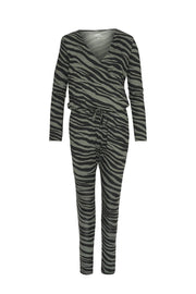 Comfy Copenhagen ApS Heat Of The Night Jumpsuit Green/ Black Zebra