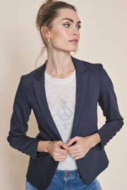 Blake Night Blazer Sustainable | Navy | Blazer fra Mos Mosh
