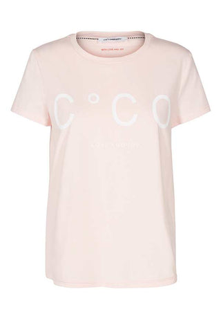 COCO SIGNATURE TEE | Nude Rose | CoCo t-shirt fra CO'COUTURE