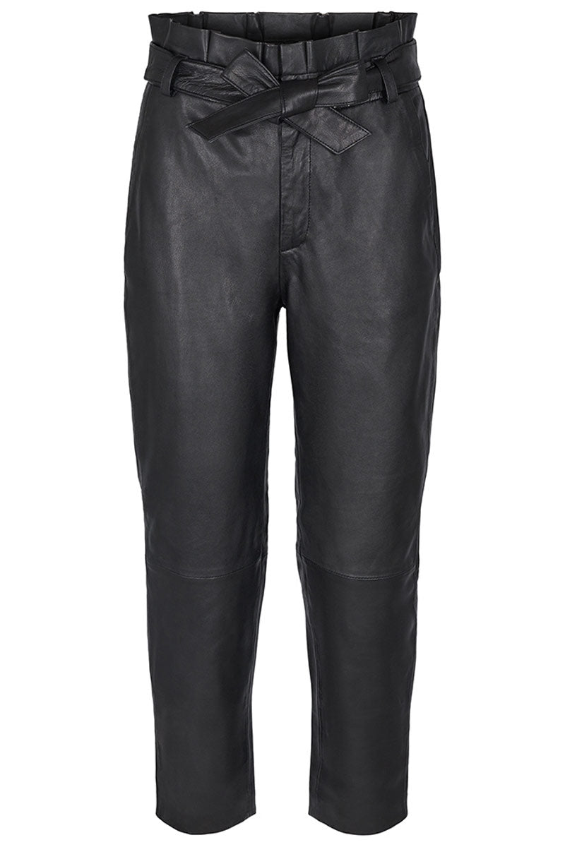 PHOEBE LEATHER PANT | Sort | Læder bukser fra CO'COUTURE