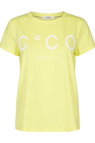 COCO SIGNATURE TEE | Gul | CoCo t-shirt fra CO'COUTURE