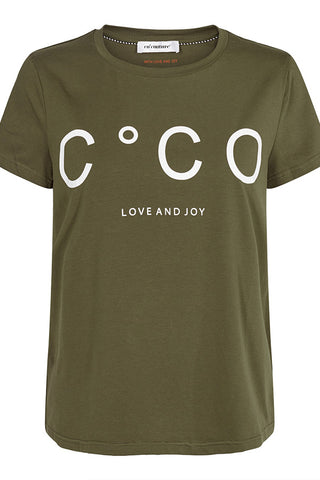 COCO SIGNATURE TEE | Army | Signatur t-shirt fra CO'COUTURE