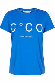 COCO SIGNATURE TEE | New blue | CoCo t-shirt fra CO'COUTURE