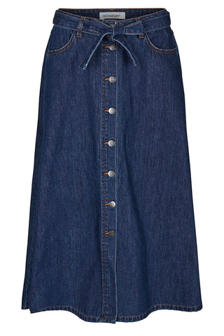 SANNA DENIM BUTTON SKIRT | Denim | Nederdel med knapper fra CO'COUTURE