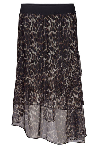 ANIMAL MESH SKIRT | Leopard | Nederdel med dyreprint fra CO'COUTURE