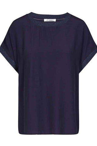 NEW NORMA TOP S/S Shirt | Navy | T-shirt fra CO'COUTURE