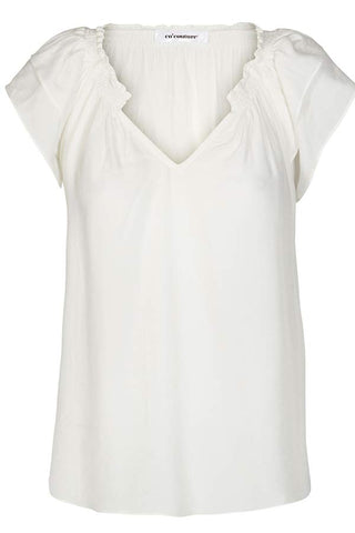 SUNRISE TOP S/S SHIRT | Off white | Sød sommertop fra CO'COUTURE