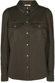 Lison Shirt | Army | Skjorte fra Co'Couture
