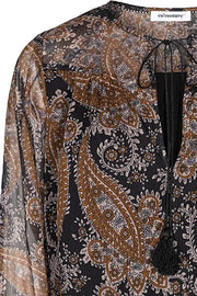 Perrine Boho Blouse | Sort | Bluse med paisley print fra Co'Couture